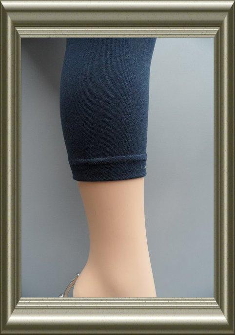 kinder legging donkerblauw met naad katoen