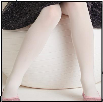 Kinder panty uni off-white opaque licht glanzend micro
