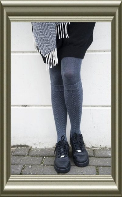 Maillot grijs kniekous effect van Bonnie Doon