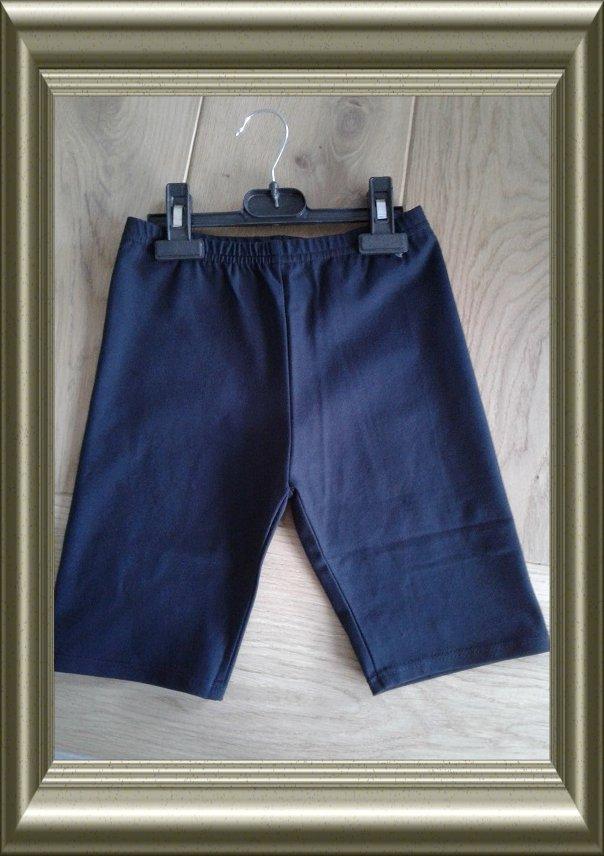 Korte legging donkerblauw squash katoen van Lidy